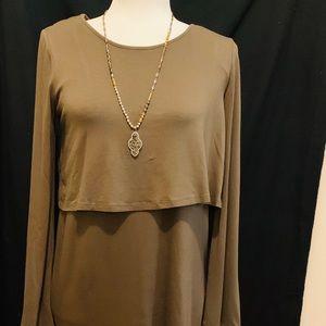 GBX dress, olive NWT, size 8
